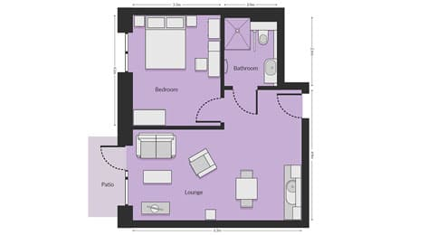One-Bed Deluxe Apartments